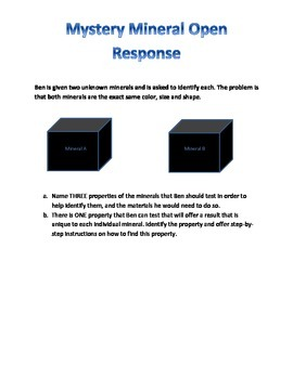 Mineral Density Open Response Prompt With Answer Key