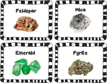 Mineral Example Cards