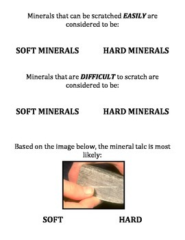 Rocks and Minerals: Mineral ID LAB: HARDNESS.  Submitted to NSTA - None better!