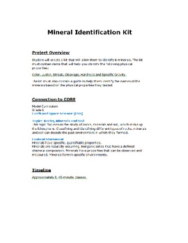 Project Based Learning: Identifying Minerals Project