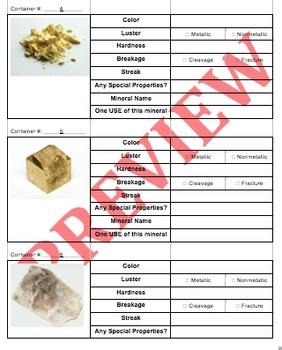 Lab #7: Mineral Identification