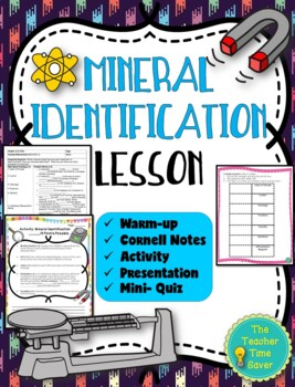 Mineral Identification Lesson (Notes, Activity, and Presentation)- Rock Unit