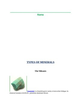 Mineral Identification Lesson and Student Workbook