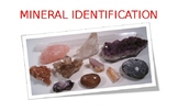 Mineral Identification Power Point