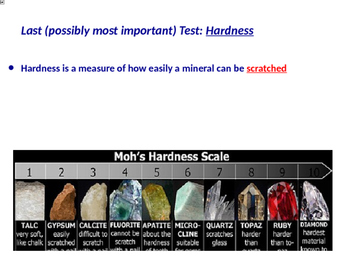 Mineral Identification Test: Hardness Powerpoint