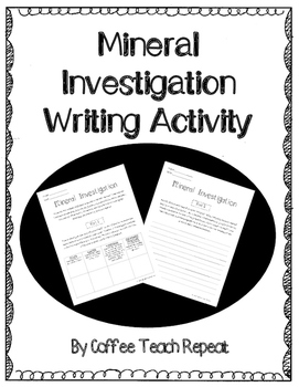 Mineral Investigation Writing Activity