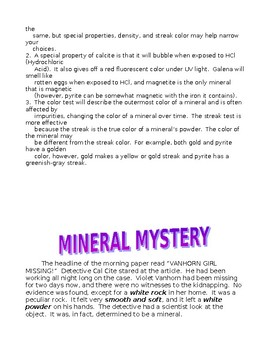 Mineral Mystery