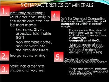 Mineral Notes PowerPoint