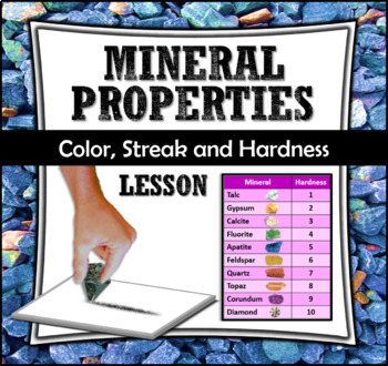 Mineral Properties Lesson - Color, Streak and Hardness