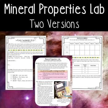 Mineral Properties Lab