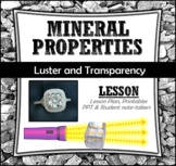 Mineral Properties: Luster and Transparency