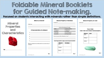 Mineral Property and Identification Lesson with Foldable Mineral Booklet