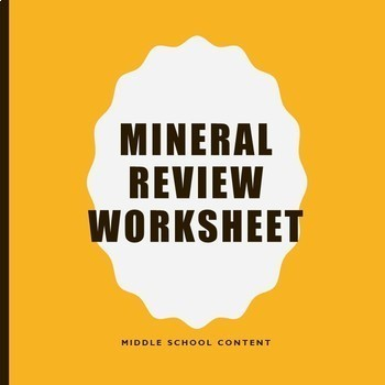 Mineral Review Sheet
