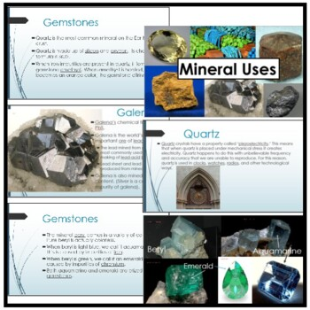 Mineral Uses: PPT and Student Notes