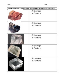 Minerals: Cleavage vs. Fracture