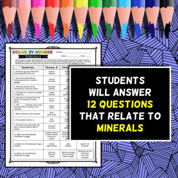 Minerals - Color by Number
