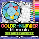 Minerals Color by Number - Science Color by Number