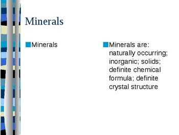 Minerals Cornell Notes