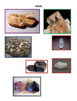 Minerals: Crystal Types and Structure (COLORFUL - 3 Versions and Modified)