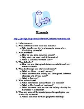 Minerals Internet Activity