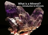 Minerals Introductory Power Point Presentation & Note Sheets