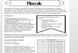 Minerals Introductory activity English/Spanish
