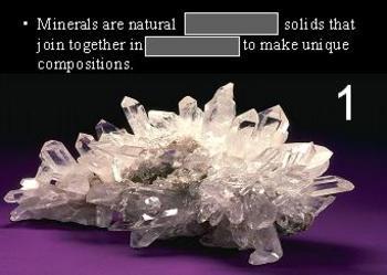 Minerals Quiz Game
