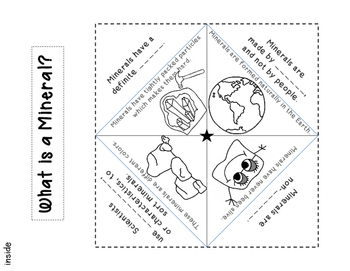 Minerals: Minibook with quiz and Foldables for Science Journal