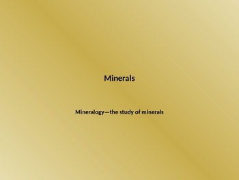 Minerals Powerpoint Lesson