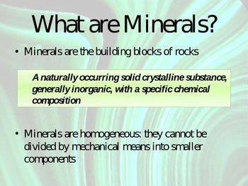 Minerals - Powerpoint Presentation