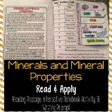 Minerals Reading Comprehension Interactive Notebook