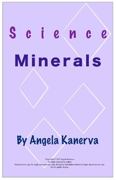 Minerals Research Poster