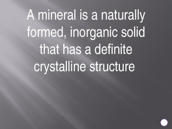 Minerals: Jeopardy Review Game