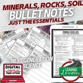 Minerals, Rocks, Soil Just the Essentials Content Next Generation Science