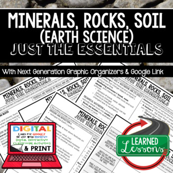 Minerals, Rocks, Soil Just the Essentials Content Next Generation Science
