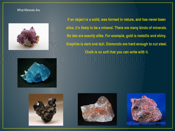 Minerals, Rocks, and Fossils, Lesson 1