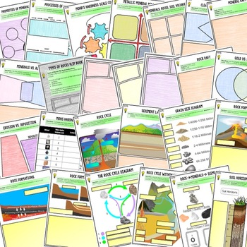 Minerals, Rocks, and Soil Choice Board Activity Pgs (Paper & Google Versions)