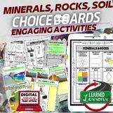 Minerals, Rocks, and Soil Activities, Choice Board, Print & Digital, Google