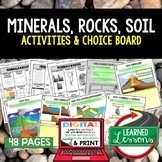Minerals, Rocks, and Soil Activities Choice Board, Digital