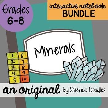 Doodle Notes - Minerals Science Doodles Interactive Notebook Bundle