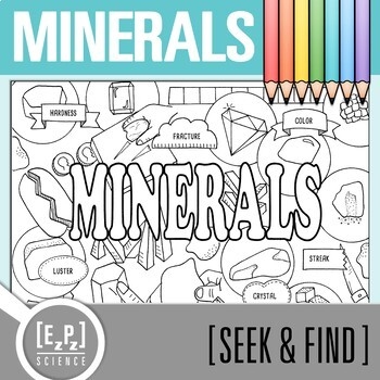 Minerals Seek and Find Science Doodle Page