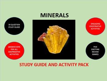 Minerals:  Study Guide and Activity Pack