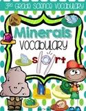 Minerals & Their Properties Third Grade Vocabulary Sort
