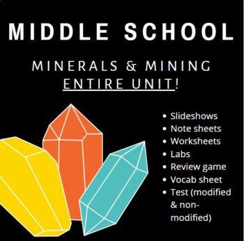 Minerals Unit- Middle School