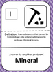 Minerals Vocabulary Scavenger Hunt Game