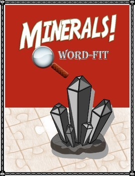 Minerals Vocabulary Review WordFit Puzzle; Earth Science
