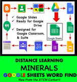 Minerals Word Find Google Sheets - Distance Learning Friendly