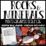 Minerals Worksheet on Mohs Hardness Scale