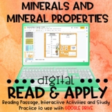 Minerals and Mineral Properties DIGITAL Read and Apply