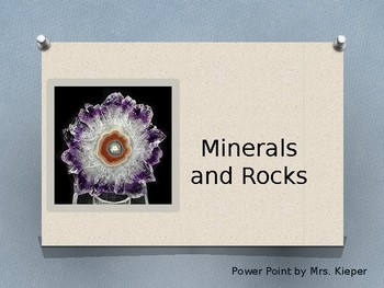 Minerals and Rock Power Point
